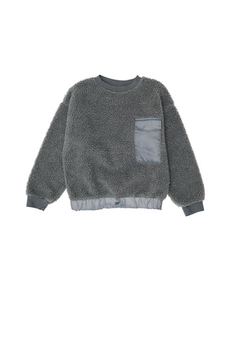 The Campamento Grey Teddy Sweatshirt