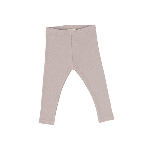 Lil Legs Taupe Ribbed Leggings