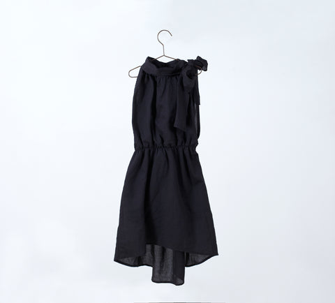 You And Me Black Halter Dress