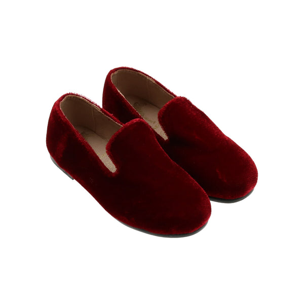 Zeebra Burgundy Velvet Loafer