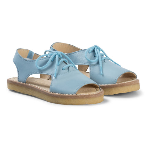 Tinycottons Blue Crepe Lace Sandals