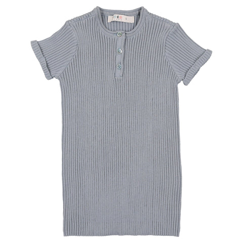 Coco Blanc Ice Blue Boys Knit Henley