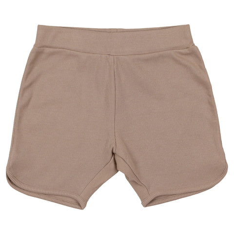Coco Blanc Taupe Ribbed Shorts