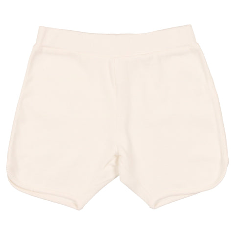 Coco Blanc White Ribbed Shorts