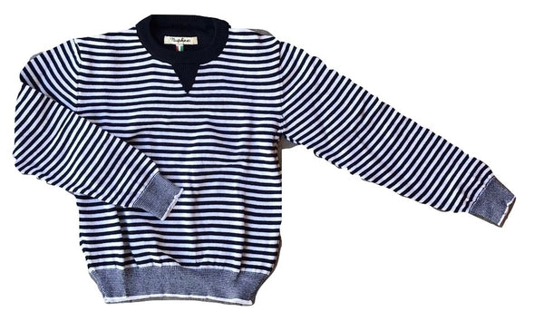 Nupkeet Blue & White Stripe Sweater