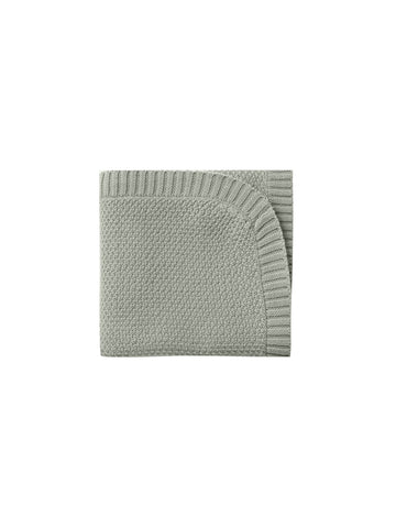 Quincy Mae Sage Chunky Knit Baby Blanket