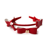 Halo Luxe Red Bows Headband