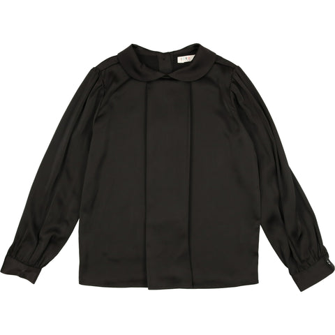 Coco Blanc Black Silky Blouse