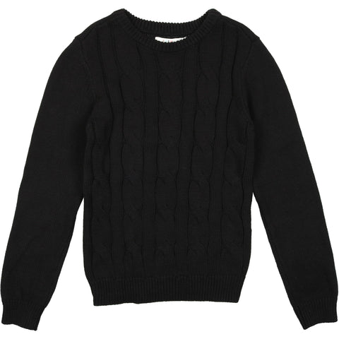 Coco Blanc Black Cabled Sweater