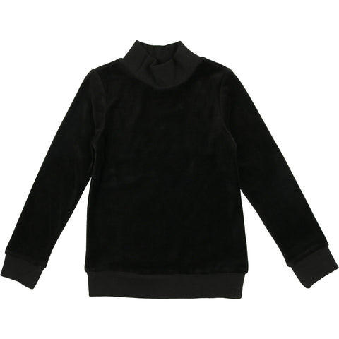 Coco Blanc Black Velour Sweatshirt