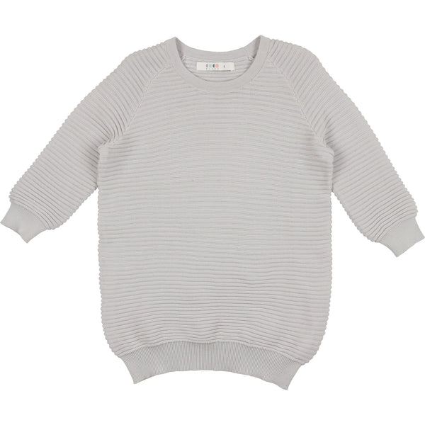 Coco Blanc Pale Blue Three Quarter Sweater Top