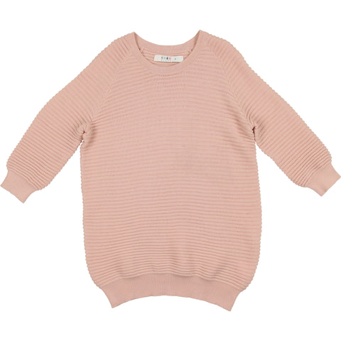 Coco Blanc Smoky Rose Three Quarter Sweater Top