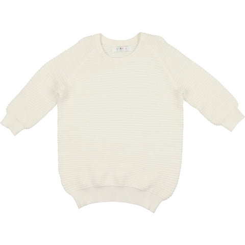 Coco Blanc Cream Three Quarter Sweater Top