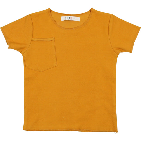 Coco Blanc Spicy Mustard French Terry V neck  Tee