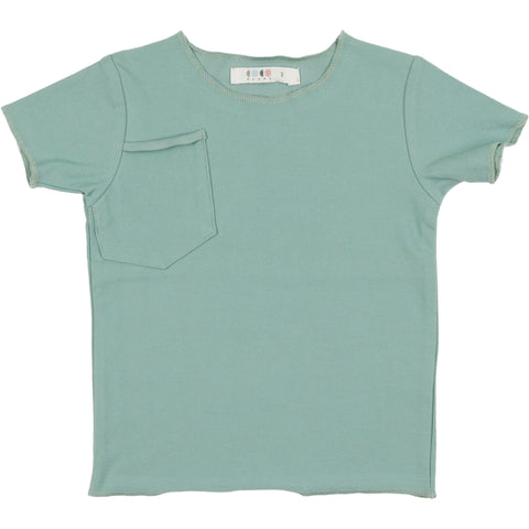 Coco Blanc Sage Green French Terry Short Sleeve Tee