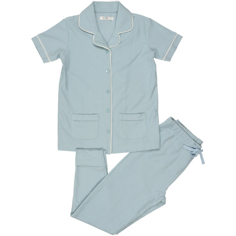 Coco Blanc Pale Blue French Terry Pajamas