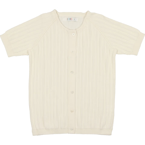 Coco Blanc Cream Ribbed Sweater