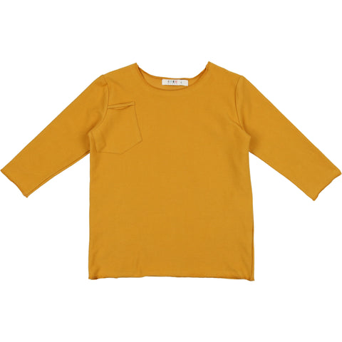Coco Blanc Spicy Mustard French Terry 3/4 Sleeve Tee