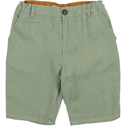 Coco Blanc Sage Green Linen Shorts