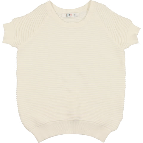 Coco Blanc Cream Horizontal Ribbed Sweater