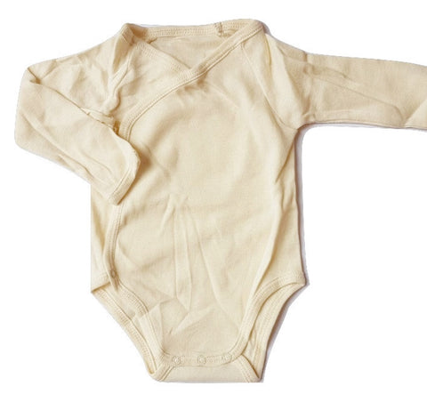 Natura Pura Beige Body Onesie with Ties on the front