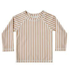 Rylee & Cru Almond Striped Rashguard