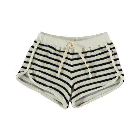 My Little Cozmo Navy Stripe Kids Terry Shorts