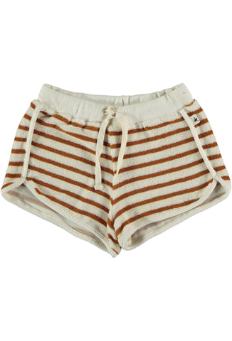 My Little Cozmo Peanut Stripe Kids Terry Shorts