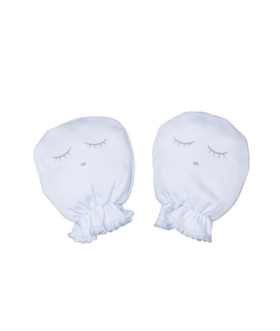 Livly Stockholm White Sleeping Cutie Baby Mittens