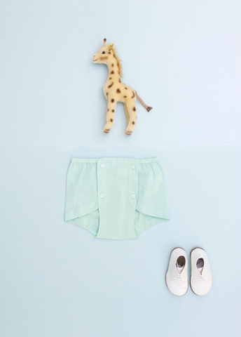Flora and Henri Four Button Bloomer Mint Green