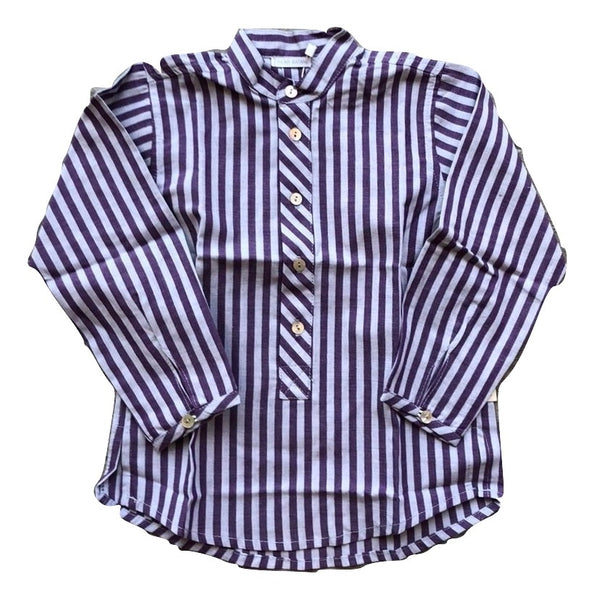 Pilar Batenero Blackberry Stripe Shirt