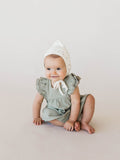 Quincy Mae Ivory Gold Stars Pixie Bonnet