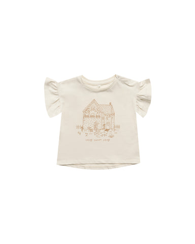 Rylee & Cru Natural Home Sweet Home Flutter Tee