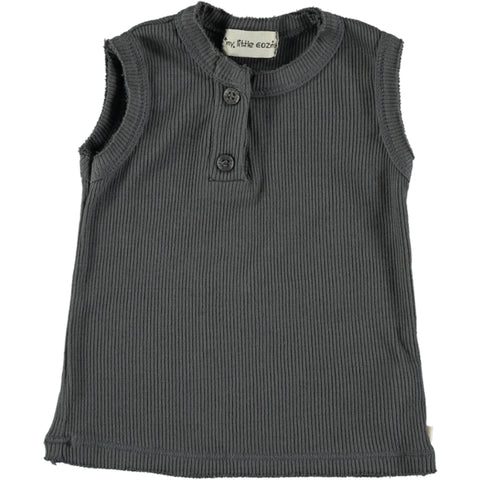 My Little Cozmo Dark Grey Sleeveless Rib Tank