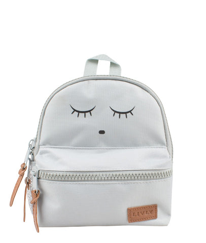 Livly Stockholm Grey Sleeping Cutie Mini Backpack