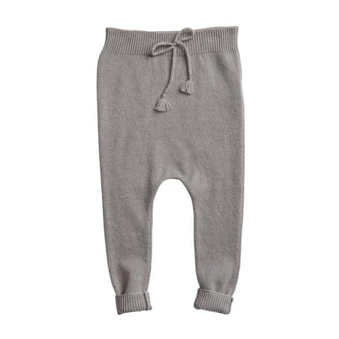 Belle Enfant Knit Charcoal Grey Footless Legging