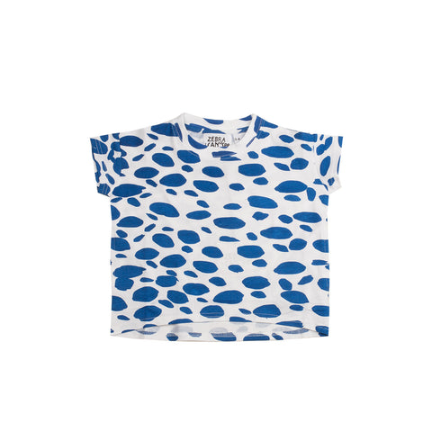 Zebra I Can See Blue Blur T-Shirt