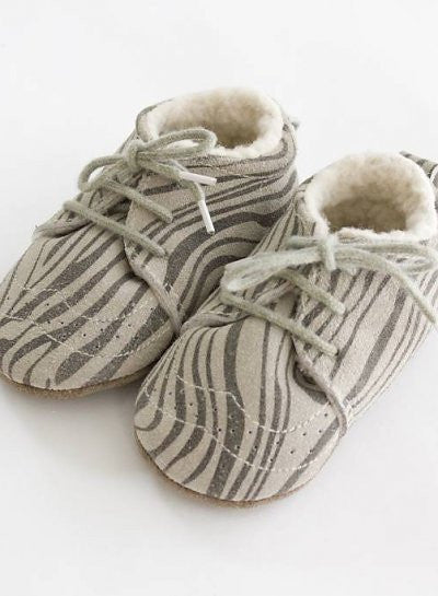Little Indians Zebra Booties