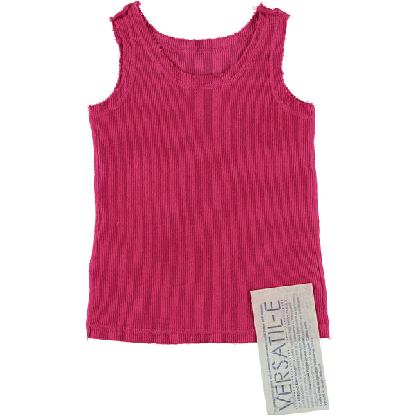 Versatile Magenta Ribbed Tank Top