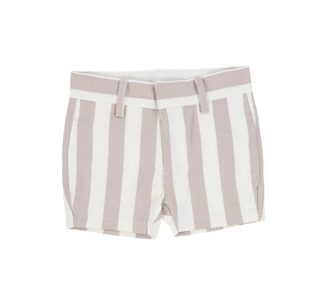 Lil Legs Taupe Stripe Dress Shorts