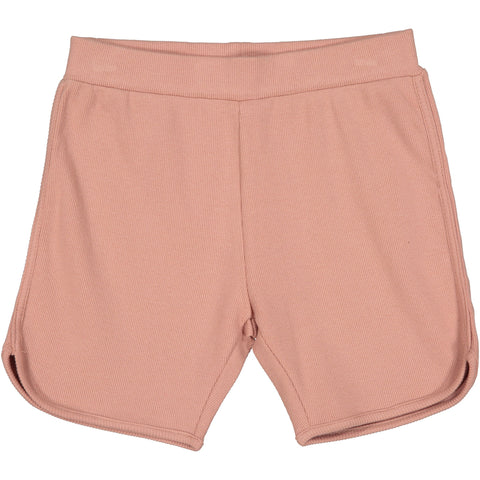 Coco Blanc Blush Pink Ribbed Shorts