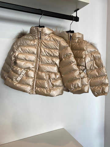 Colmar Sandy Fur Hooded Baby Winter Jacket