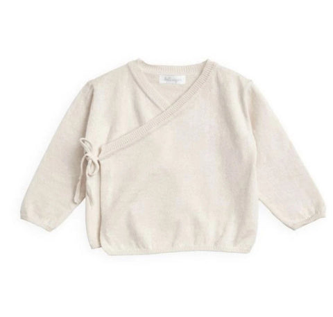 Belle Enfant Parchment Cotton Wrap Top & Legging Set