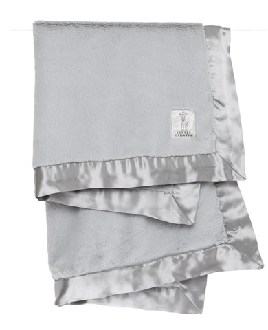 Little Giraffe Luxe Solid Grey Baby Blanket