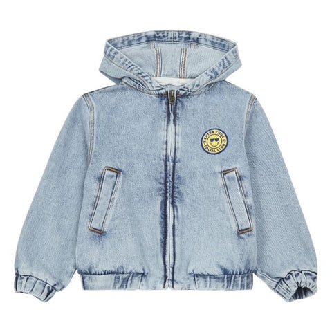 Hundred Pieces Embroidered Denim Stonewashed Jacket