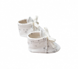 Quincy Mae Ivory Stars Baby Booties