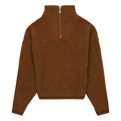 Hundred Pieces Brown Knitted Jumper