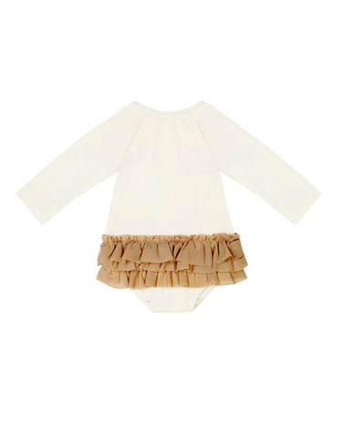 Little Creative Factory Ivory Long-Sleeved Baby Degas Swimsuit