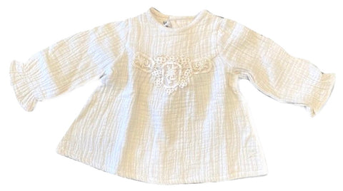 Tocoto Vintage Off White Embroidered Blouse