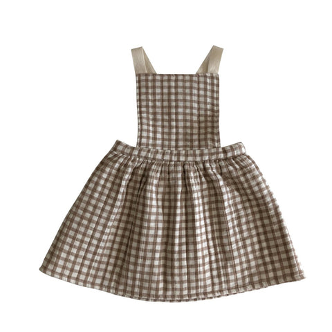 Liilu Quilted Apron Check Dress